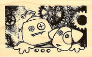 Screwy Pals, Wood Mounted Rubber Stamp STAMPENDOUS, NEW - M323