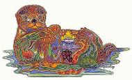 SEA OTTER Animal Spirit Unmounted Rubber Stamp EARTH ART Sue Coccia New
