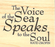 Sea Speaks to the Soul Saying Wood Mounted Rubber Stamp Impression Obsession NEW