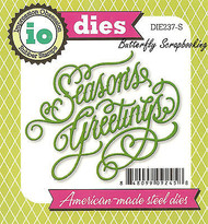 Seasons Greetings American made Steel Dies by Impression Obsession DIE237-S New