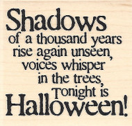 Shadows Rise Text, Wood Mounted Rubber Stamp IMPRESSION OBSESSION - NEW, D14145