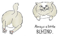 Shake Your Booty Cat Behind Unmounted Rubber Stamps Cushion Art Impressions NEW