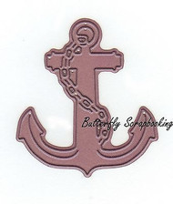 Ship's Anchor, Steel Cutting Dies CHEERY LYNN DESIGNS - NEW, B394