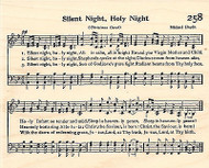 Silent Night Sheet Music Wood Mounted Stamp IMPRESSION OBSESSION Christmas Hymn