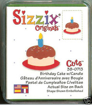SIZZIX Small Green Di BIRTHDAY CAKE Sizzix Die #38-0713