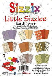 Sizzix, Border Punches & Matting Papers (Earths) 6.5'' x 4.5'' Inch NEW 40-0011