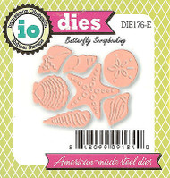 Small Seashell Set American Made Steel Dies by Impression Obsession DIE176-E New