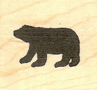 Small Solid Bear, Wood Mounted Rubber Stamp NORTHWOODS - NEW, A8571