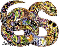 SNAKE Animal Spirit Cling Unmounted Rubber Stamp EARTH ART Sue Coccia New