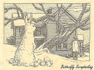 Snow Bunny, Wood Mounted Rubber Stamp IMPRESSION OBSESSION - NEW, H1957