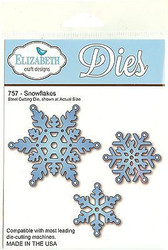 Snowflakes, Steel Cutting Die ELIZABETH CRAFT DESIGNS - NEW, #757