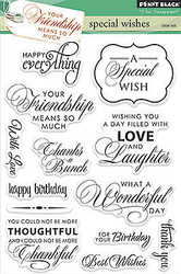 Special Wishes Stamp Set Clear Unmounted Rubber Stamp Set PENNY BLACK 30-229 New