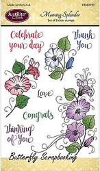 SPLENDOR Stamp Set Clear Unmounted Rubber Stamps by JustRight CR-02197 NEW
