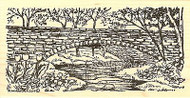 Spring Bridge, Wood Mounted Rubber Stamp NORTHWOODS - NEW, O9797