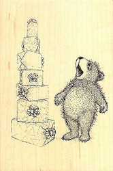 Stacked Gifts GRUFFIES Wood Mounted Rubber Stamp STAMPENDOUS, NEW - HGRP06
