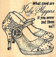 Steam Punk Rubby Slippers Wood Mounted Rubber Stamp Stampendous Stamp W091 NEW