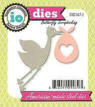 Stork Baby Set American made Steel Dies by Impression Obsession DIE167-J New