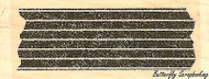 Striped Washi Tape, Wood Mounted Rubber Stamp IMPRESSION OBSESSION - NEW, B8880