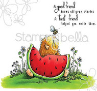 SUMMER WATERMELON Set Cling Unmounted Rubber Stamp Stamping Bella EB293 NEW