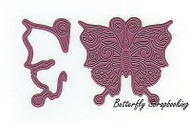 Swirly Butterfly & Wing Steel Die Cutting Dies CHEERY LYNN DESIGNS B536 New