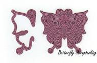 Swirly Butterfly & Wing Steel Die Cutting Dies CHEERY LYNN DESIGNS B536 New