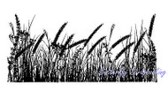 Tall Grasses Mixed Media Cling Unmounted Rubber Stamp IndigoBlu Stamp NEW