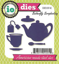 Tea Teapot Set American made Steel Dies by Impression Obsession DIE197-K New