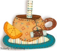 TEACUP Ornament Sweet Embroidery Kit by Dimensions 72-73578 NEW