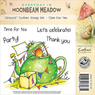 Teapot Party Mouse Unmounted Rubber Stamps MOONBEAM MEADOW MME-ST-TEA-EZ New