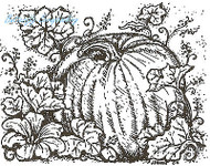 Thanksgiving Fall Pumpkin Wood Mounted Rubber Stamp Northwoods Rubber Stamp New