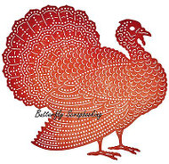 THANKSGIVING Turkey Die Steel Die Cutting Die CHEERY LYNN DESIGNS B599 New
