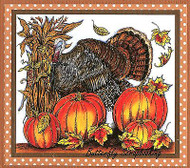 THANKSGIVING Turkey Pumpkins Corn Wood Mounted Rubber Stamp NORTHWOODS P9836 New