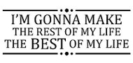 THE BEST OF MY LIFE Saying Cling Unmounted Rubber Stamp MAGENTA C07904-H NEW