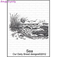 The Sea, Cling Style Unmounted Stamp DAILY BREAD DESIGNS - NEW, E350