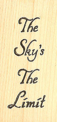 The Sky's The Limit Wood Mounted Rubber Stamp Northwoods Rubber Stamp New