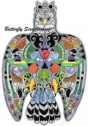 THUNDERBIRD Animal Spirit Cling Unmounted Rubber Stamp EARTH ART Sue Coccia New
