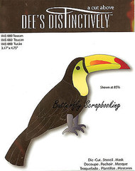 Toucan Bird American made Steel Die by Dee's Distinctively Die IME-080 New