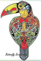 TOUCAN BIRD Animal Spirit Cling Unmounted Rubber Stamp EARTH ART Sue Coccia New
