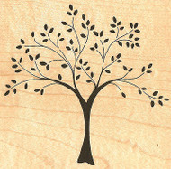 Tree of Life Wood Mounted Rubber Stamp IMPRESSION OBSESSION H8758 NEW
