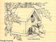 Trick Or Tweet HOUSE MOUSE Wood Mounted Rubber Stamp STAMPENDOUS, NEW - HMR11