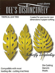 TROPICAL LEAF SET American made Steel Die by Dee's Distinctively Die IME-005 New