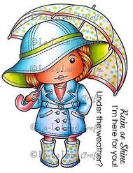 Umbrella Marci Stamp Set Cling Unmounted Rubber Stamp La La Land Crafts 5177 New