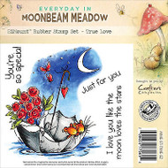 Umbrella Moon Mouse Unmounted Rubber Stamps MOONBEAM MEADOW MME-ST-LOVE-EZ New