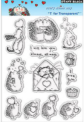 Valentine Every Which Way Clear Unmounted Rubber Stamp Set PENNY BLACK 30-008New