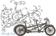 Valentine Heart Bicycle Wood Mounted Rubber Stamp Northwoods Rubber Stamp New