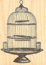 Victorian Birdcage, Wood Mounted Rubber Stamp JUDIKINS, NEW - 3562F