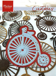 Vintage Bicycle Craft Steel Die by Marianne Design Creatables Die LR0262 New