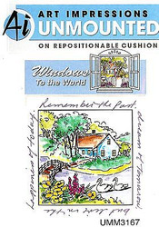 Windows To The World Cling Unmounted Rubber Stamp Art Impressions UMM3167 NEW