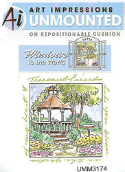Windows To The World Cling Unmounted Rubber Stamp Art Impressions UMM3174 NEW