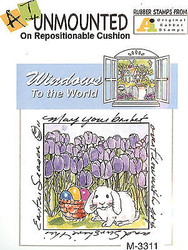 Windows To The World EASTER Unmounted Cling Rubber Stamp AI Art Impressions NEW